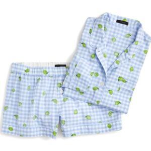 J. Crew Lemon Lime Short Pajamas- Medium